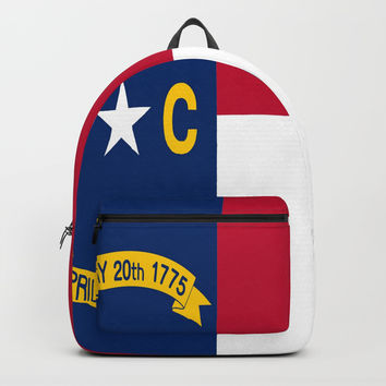 flag of north carolina-south,america,usa,Old North State,Tar Heel,North Carolinian,Charlotte,Raleigh Backpacks by oldking