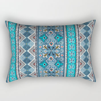 Grand Bazaar - Blue Rectangular Pillow by heatherduttonhangtightstudio