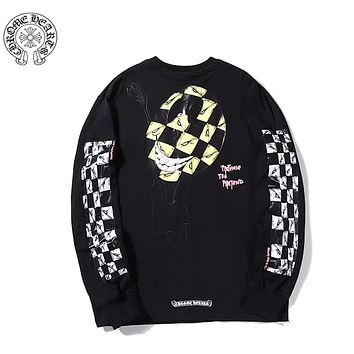 Chrome Hearts Autumn And Winter Fashion New Pattern Letter Print Women Men Long Sleeve Top Sweater Black