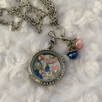 Donald Duck Daisy Duck Inspired Memory Locket Mickey Mouse Necklace