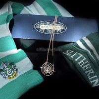 Slytherin Harry Potter Gift Set (Scarf, Beanie hat, Time Turner & Box)
