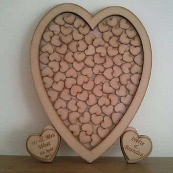 Wedding Drop Box Guest book, Heart Guest Book, Drop Box, Heart Sign, Personalised guestbook