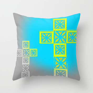 Crosses Throw Pillow by Jensen Merrell Designs