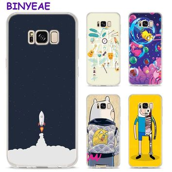 BINYEAE Adventure Time Beemo BMO Jake Finn Lumpy  Style Clear Soft TPU Phone Cases For Samsung Galaxy S9 S8 Plus S7 S6 S5 S4 Min