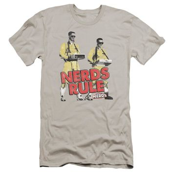 Revenge Of The Nerds - Nerds Rule Premium Canvas Adult Slim Fit 30/1 Shirt Officially Licensed T-Shirt