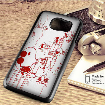 Snoopy Joe Cool Red And White Samsung Galaxy S4,S5,S6,S6 Edge,S6 Edge Plus,S7,S7 Edge Case,Note 3 4 5 Edge Case