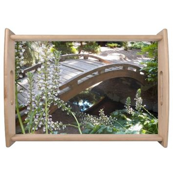 Japanese Garden Footbridge Photo Serving Tray