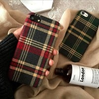 Vogue Plaid Chequer Clothing Phone Case For iPhone X 8 8plus 7 7plus 6 6plus 6S coque fundas capinha Mobile Phone Protection