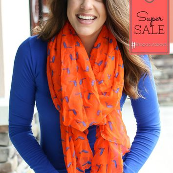 Florida Gameday Scarf - Orange + Blue
