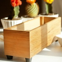 Modern wood herb planter