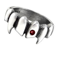 Alchemy Gothic Vamp Vampire Fangs Ring
