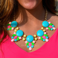 Candy Couture Turquoise Statement Necklace