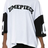 The Dimepiece Varsity Oversized T-shirt in White
