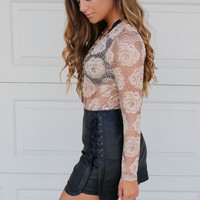 Midnight Sky High Waisted Mini Skirt
