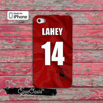 Teen Wolf Isaac Lahey Jersey Lacrosse Beacon Hills Red Custom iPhone 4 and 4s Case and Custom iPhone 5 and 5s and 5c Case