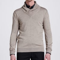 Belstaff Kenwood Shawl Collar Sweater, Trench