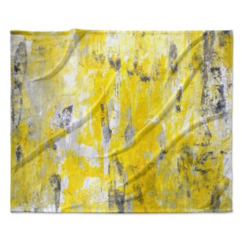 "CarolLynn Tice ""Picking Around"" Yellow Fleece Throw Blanket"