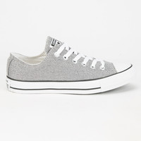 Converse Chuck Taylor All Star Sparkle Knit Low Shoes Silver  In Sizes