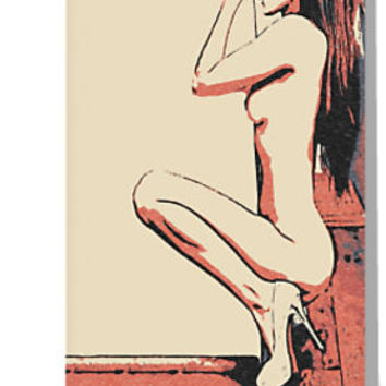 'Lick my corner - erotic nude, sexy slim girl' Greeting Card by sexyjustsexy