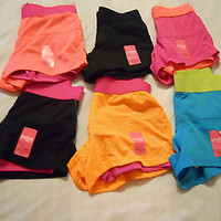 Girls Mesh Shorts Active Sz XS S M L XL Athletic Kids Drimore Tech 2fer