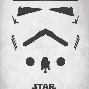 Star Wars Inspired Vintage Poster - Deconstructed Stormtrooper