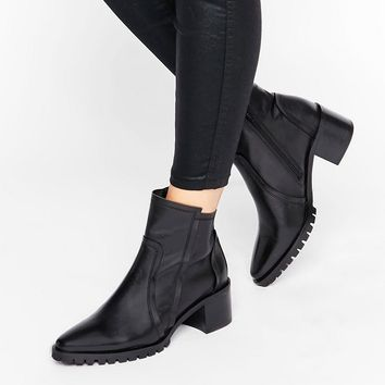ASOS RECTIFY Premium Leather Ankle Boots