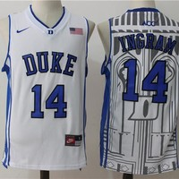 Best Sale Online NCAA University Basketball Jersey Duke Blue Devils # 14 Brandon Ingram White