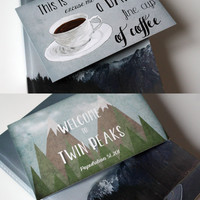 Twin Peaks card Twin Peaks Welcome + A Damn Fine Cup of Coffee - Set of 2 cards & envelopes