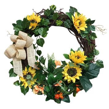 "Wreath-B01HKMXNF4-21""Sunflower Wreath"