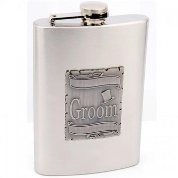 Personalized Groom Wedding Flask