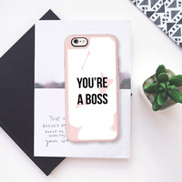 You are a boss blush iPhone 6s case by Allyson Johnson | Casetify