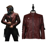 Guardians of the Galaxy Cosplay coat Star-Lord Costume adult Peter Jason Leather Jacket