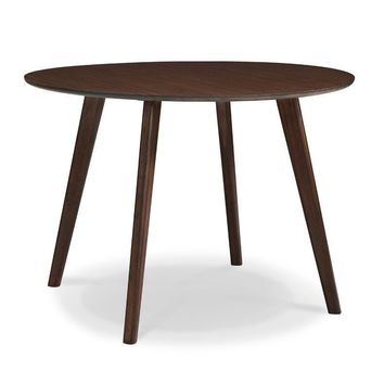 "Currant 42"" Round Dining Table Bamboo Black Walnut"