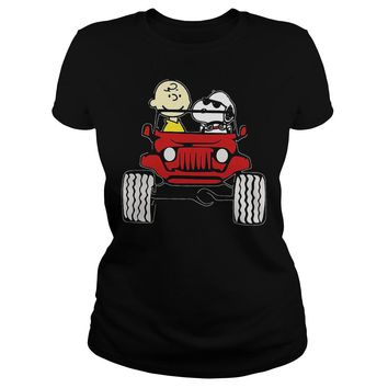 They Are Snoopy And Charlie Brown Premium Fitted Ladies Tee