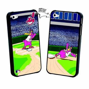 Major League Baseball-Iphone 5 MLB Cleveland Indians Mascot Lenticular Case