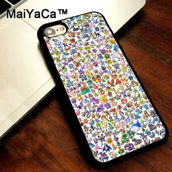 MaiYaCa ALL S COLOURFUL PIKACHUS Mobile Phone Case For iPhone 5 5s SE Slim Back Cover Soft TPU Cases For iPhone SEKawaii Pokemon go  AT_89_9