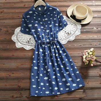 Denim Clouds Dress