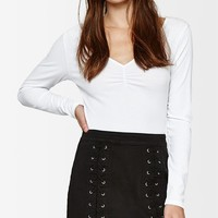 PacSun Double Lace-Up Skirt at PacSun.com