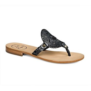 Georgica Sandal in Black by Jack Rogers