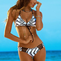 PRINTED HOLLOW OUT BEACH BIKINI-2