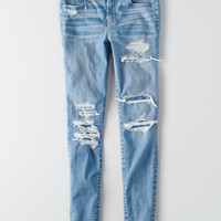AEO Denim X Hi-Rise Jegging, Shattered Breeze