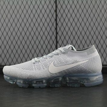 Tagre™ Nike Air Max Vapor Max Flyknit For Women Men Running Sport Casual Shoes Sneakers White