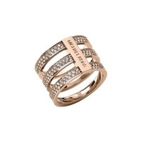 Pavé Rose Gold-Tone Ring | Michael Kors
