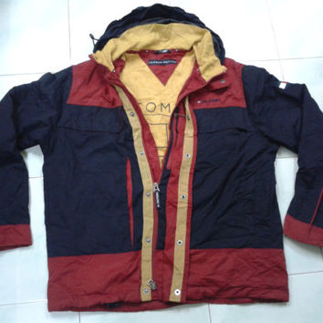 vintage 90s tommy hilfiger jacket hooded winbreaker sweater size small