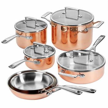 KitchenAid 10-piece Tri-Ply Copper Cookware Set