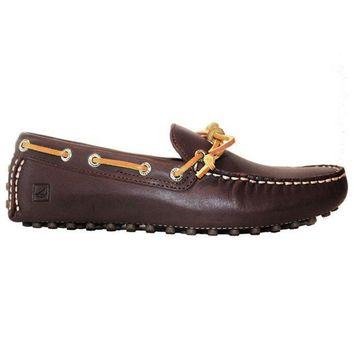 Sperry Top Sider Hamilton Driver   Brown Leather Driving Moc