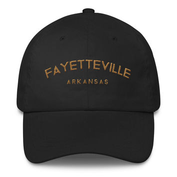 Fayetteville Arkansas Classic Dad Cap | The Inked Elephant