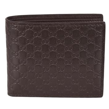 GUCCI Dark Brown Men's Microguccissima Leather Trifold Wallet 333042