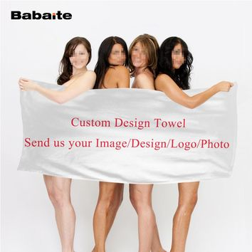 Babaite Custom Your Own Design Bath Beach Towel Fast Drying Washcloth Swimwear Shower Towels Facial Hands Sports Towel