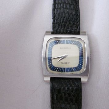 Longines men's vintage flagship wrist watch in excellent condition, manual windi